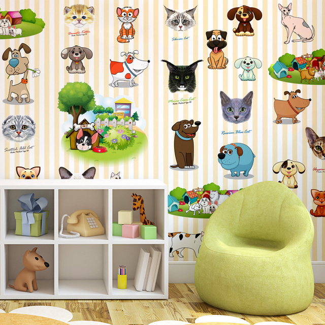 10 Meters Childrens Room Cartoon Wallpaper Playground Early