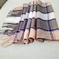 Manta Bufanda Unisex Invierno Bufanda Larga de Las Mujeres de Tamaño Caliente de La Manera bufandas y Chales Para Mujer Y Hombre Casual A Cuadros Piña bufandas