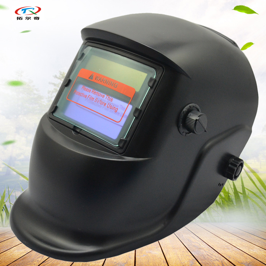 full face Welding Helmet For Sale black Solar and battery Best welding Mask Auto Darkening Grinding adjust factory HPS01(2233DE)