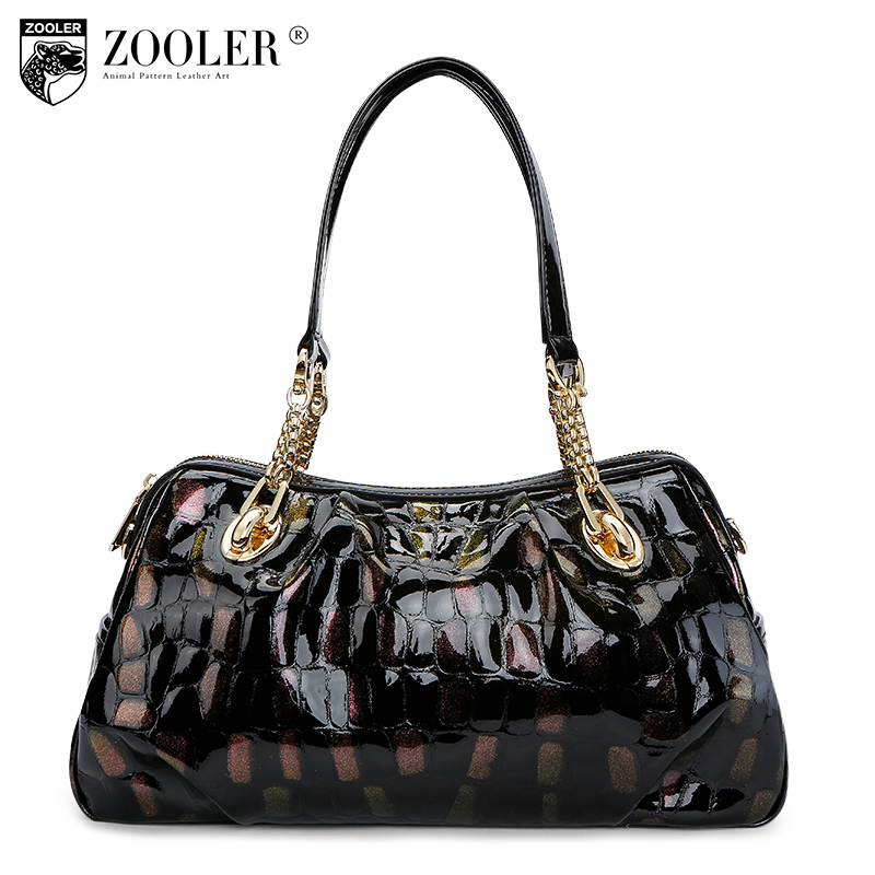 ZOOLER Hot bags handbags women famous brands 2018 genuine leather woman bag shoulder bags cowhide tote luxury high quality#110 2018 soft genuine leather bags handbags women famous brands platband large designer handbags high quality brown office tote bag