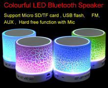 Colourful LED Mini Wireless Bluetooth Speaker A9 TF Card USB FM Portable Music speakers Loudspeaker Hand-free call with Mic