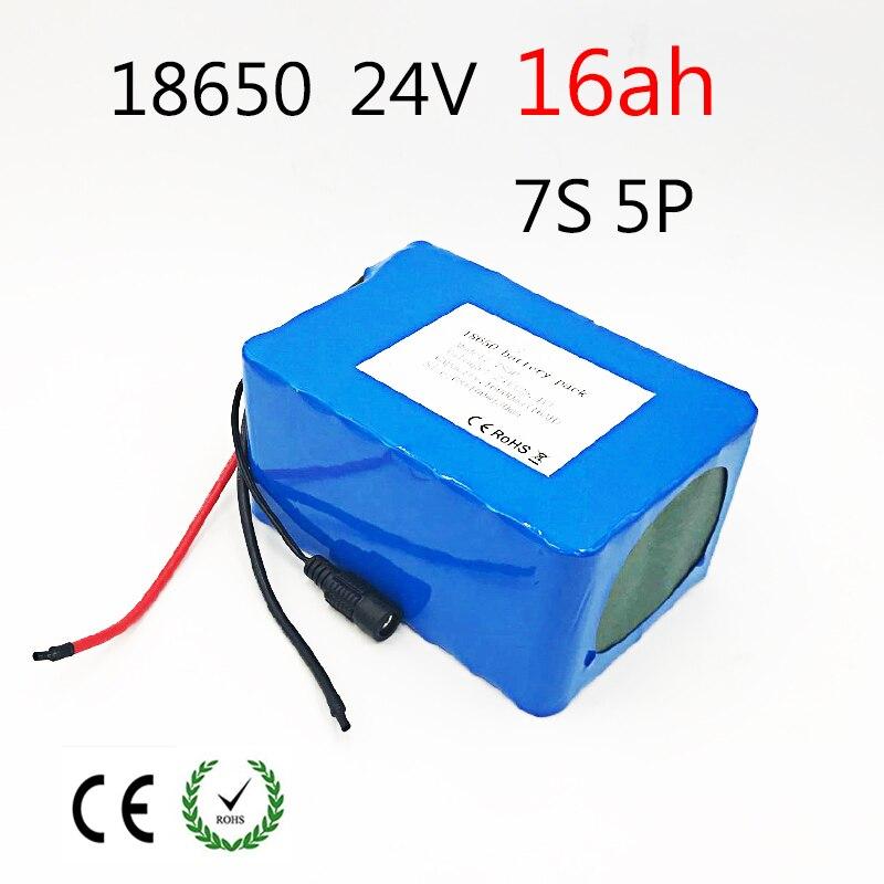 Louanges 24 v 16ah vélo Électrique Au Lithium Ion Batterie 29.4 v 16000 mah 15A BMS 250 w 350 w 18650 batterie Moteur En Fauteuil Roulant
