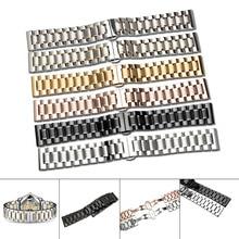 купить 14/16/17/18/19/20/21/22/23/24mm Universal Watch Band Strap Stainless Steel Watchband Bracelet NYZ Shop по цене 644.14 рублей