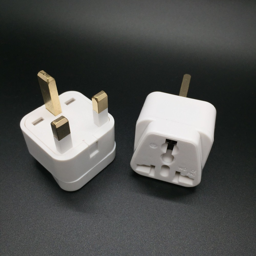 2 Pack Uk Travel Adapter Type G Plug Works Electrical Outlets In United Kingdom Hong Kong Ireland Great Britain Scotland International Adaptor
