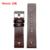 Nova alta qualidade 22mm 24mm 26mm 28mm 30mm Mens Watch Band Brown Pulseira de Couro Genuíno Fivela de Aço inoxidável