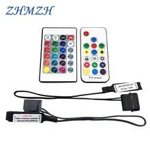 ตัวควบคุม RF RGB Molex 4pin แหล่งจ่ายไฟสำหรับกรณีคอมพิวเตอร์ LED 3Pin 5V หรือ 4Pin 12V D RGB splitter อินเทอร์เฟซ Hub SYNC