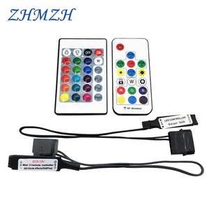 Image 1 - RGB RF Controller Molex 4pin Voeding Voor Computer Case LED Verlichting 3Pin 5V Of 4Pin 12V D RGB splitter Interface SYNC Hub