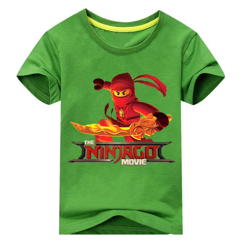 Children Summer Tees Tops Clothing For Boys Cartoon Ninjago T-shirt Costume Girls Casual Clothes Kids T Shirts For Baby DX073 цена и фото