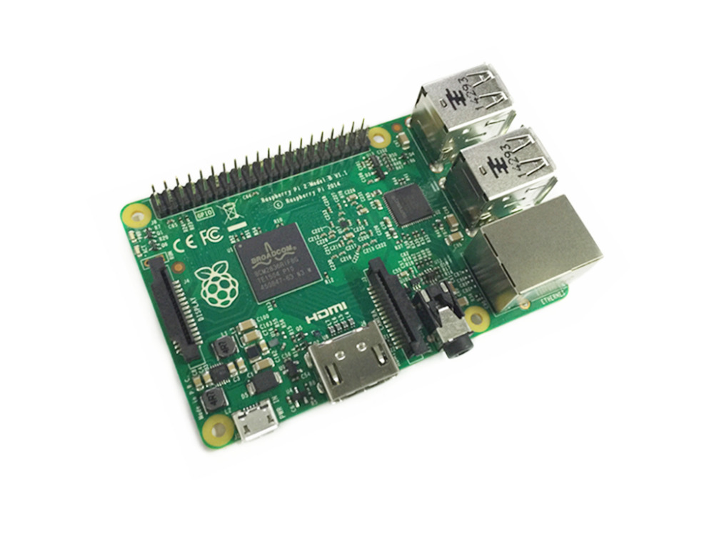 Original Raspberry Pi 2 Model B 1G RAM 900Mhz Quad Core ARM Cortex A7 Element 14 6 Times Faster than the Raspberry PI 2 Model B