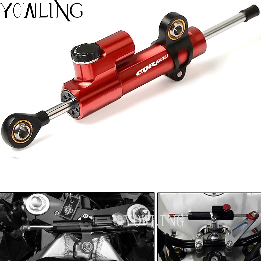 Motorcycle CNC Damper Steering StabilizerLinear Reversed Safety Control For HONDA CBR600RR CBR600 RR CBR 600 600RR 2005-2017Motorcycle CNC Damper Steering StabilizerLinear Reversed Safety Control For HONDA CBR600RR CBR600 RR CBR 600 600RR 2005-2017