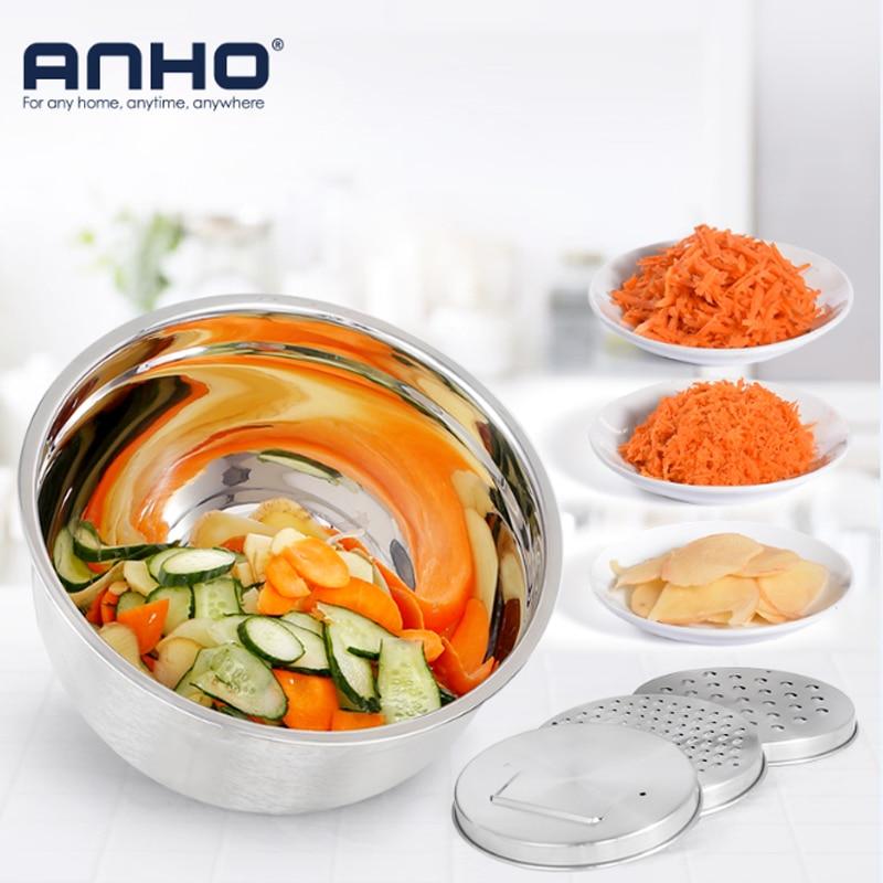 Multi Functional Stainless Steel Fruit Vegetable Shredder Slicer Planing Cutter Grater bowl Cucumber Carrot Kitchen Accessories