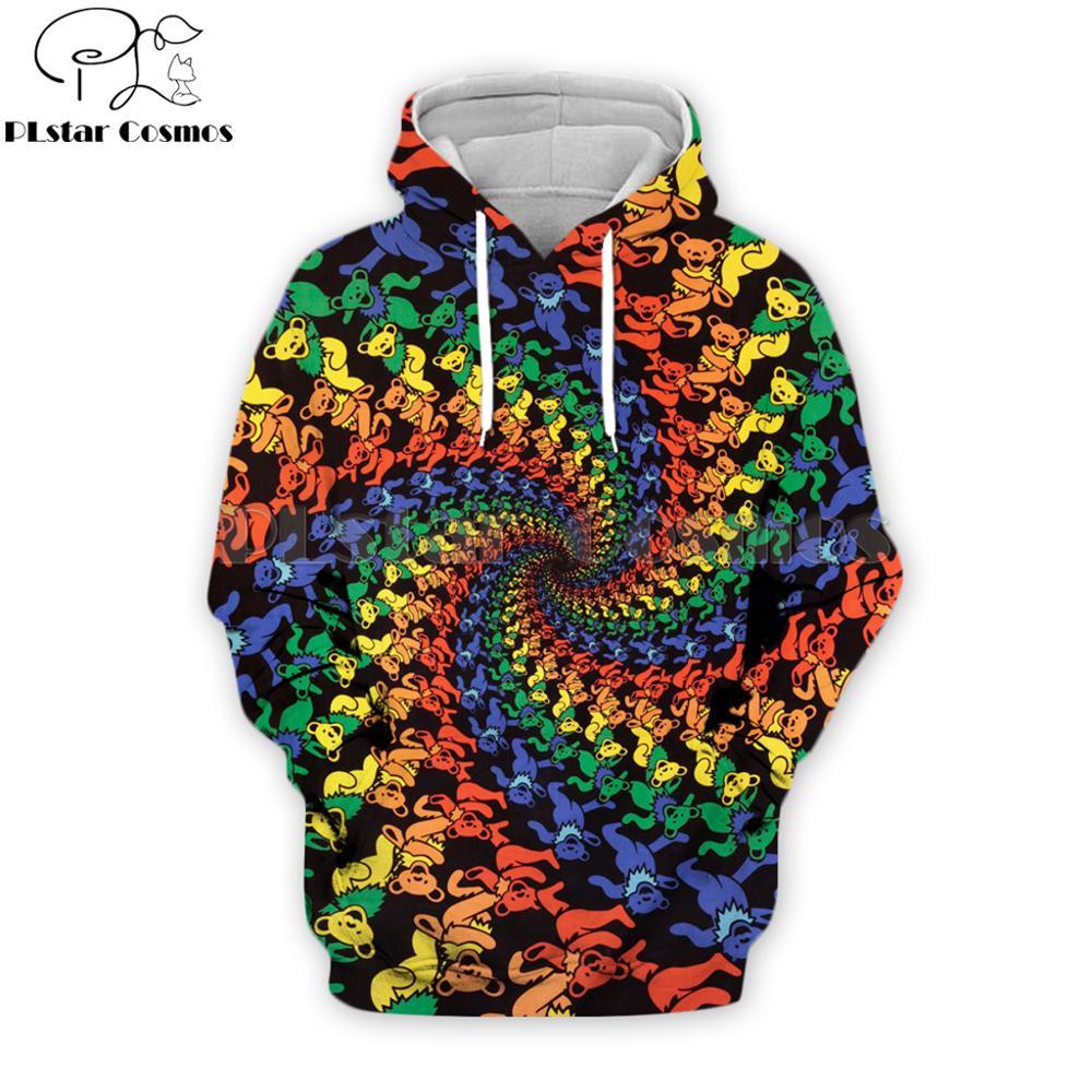 PLstar Cosmos Sunshine Joy Grateful Dead 3D Printed Dancing Bears  Men Hoodies Unisex Streetwear Hoodie/Sweatshirt/Hooded Jacket