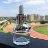 100pcs 30ml Sub Refillable Bottles Wholesale High Quality Essential Oil Face Serum Toner Own Logo Travel Pack Gold/Silver