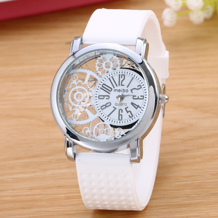 MEIBO Brand Fashion Silicone Rubber Watch Casual Women's Slim Watches Quartz Watch Relogio Feminino 2018 Clock Hot Selling