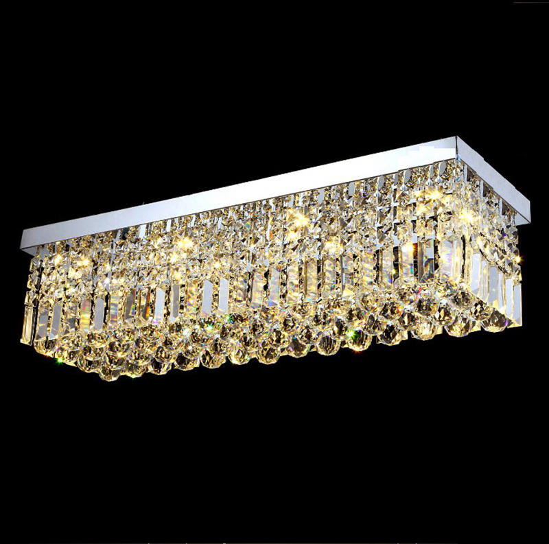 Modern Crystal LED Ceiling light Fixture For Indoor Lamp E14 Bulb Surface Mounting Ceiling Lamp For Bedroom Dining Room ZXD0029