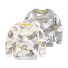 Baby boy kids 2017 new long sleeved sweater and coat all-match children cartoon jumper