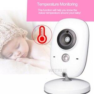 Image 5 - Wideo bebe niania elektroniczna Baby Monitor VB603 2.4G bezprzewodowy 3.2 cali LCD 2 Way rozmowy Audio Night Vision niania wideo baba eletronica babyfoon