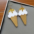 ice cream earrings acrylic laser new 2016 spring summer girls woman jewelry accessories food earrings