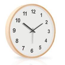 90b973423 كبيرة غرفة المعيشة بسيطة ساعة حائط الإبداعية خشبية الزخرفية ساعة حائط s  المنزل ديكور Zegary أفضل
