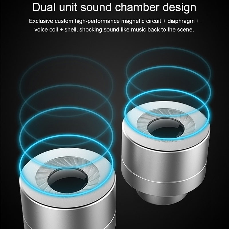 US $4 54 29% OFF Double Unit Drive In Ear Earphone Bass Subwoofer HIFI DJ  Monito for Sony Ericsson Mix Walkman -in Phone Earphones & Headphones from