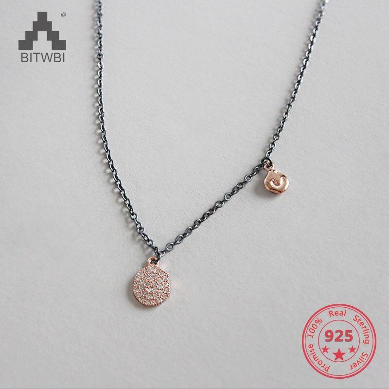 100% S925 Sterling Silber Halskette Unregelmäßigen Metall Schlüsselbein Kette Halsketten Colar Gute Begleiter FüR Kinder Sowie Erwachsene