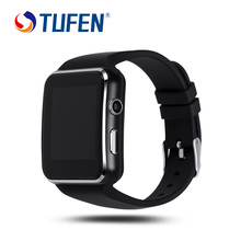 TUFEN Curved Screen Bluetooth Smart Watch X6 Smartwatch Sport Watches WristWatch for Android Phone With Camera Support SIM Card
