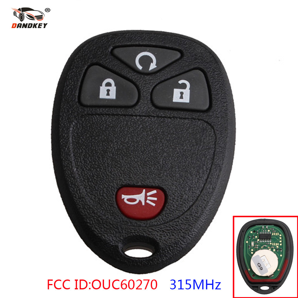 Dandkey Remote Car Key 4 Buttons OUC60270 Fob 315Mhz For Chevrolet Silverado GMC Acadia Sierra 2008 2009 2010 Car Case Shell Dandkey Remote Car Key 4 Buttons OUC60270 Fob 315Mhz For Chevrolet Silverado GMC Acadia Sierra 2008 2009 2010 Car Case Shell