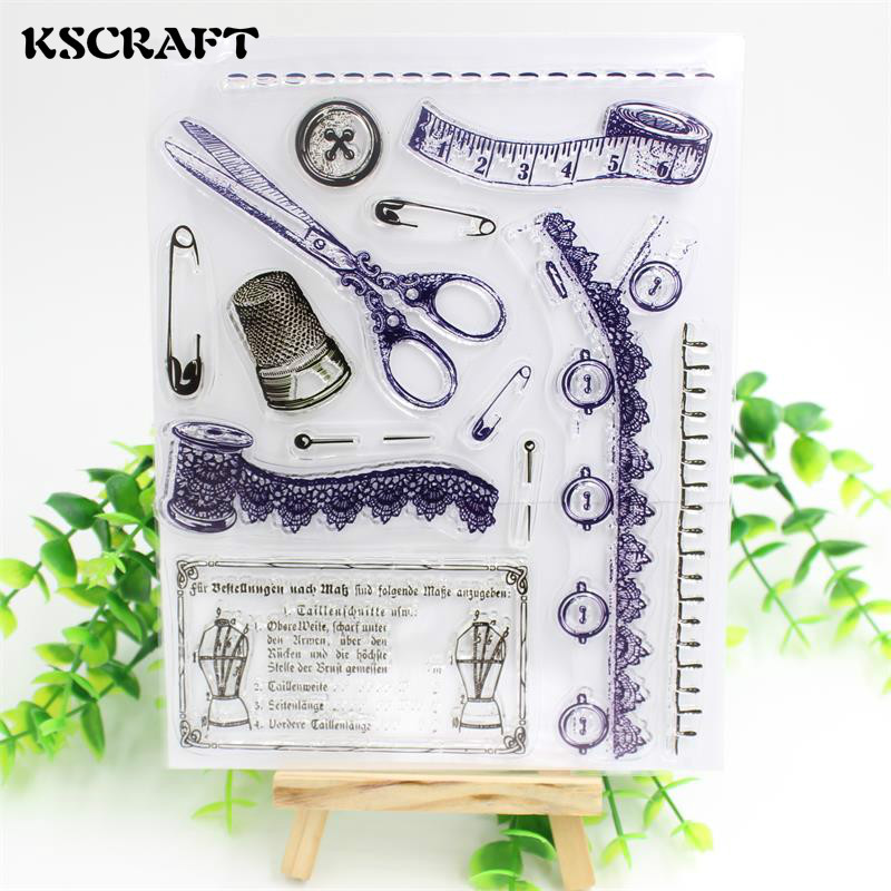 KSCRAFT Sewing Clear Silicone Stamp for DIY scrapbooking/photo album Decorative craft lovely animals and ballon design transparent clear silicone stamp for diy scrapbooking photo album clear stamp cl 278