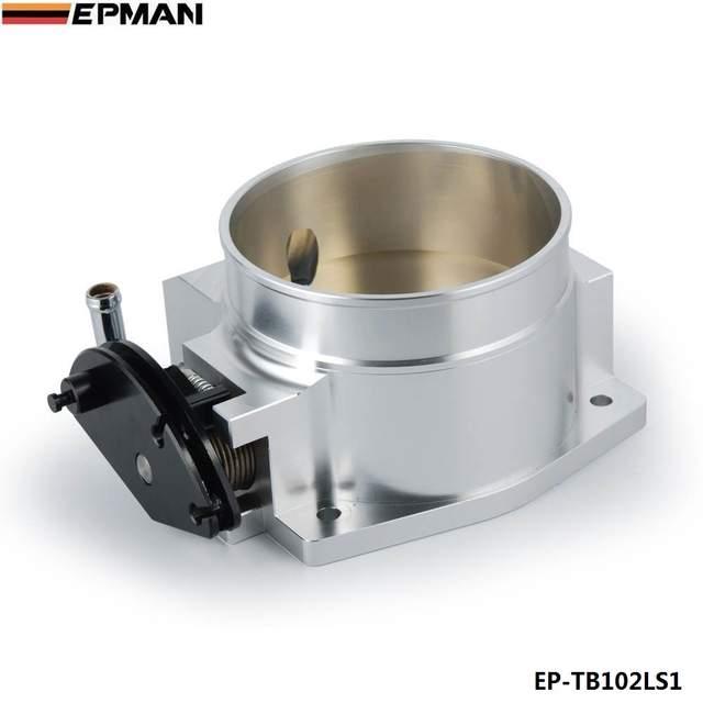 US $45 61 5% OFF|For GM LS1 LS2 LS4 LS6 LS7 Aluminium Intake Manifold 102MM  Throttle Body Kits Silver EP TB102LS1-in Fuel Supply & Treatment from