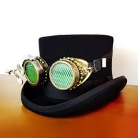 Gothic Man Women Hat Vintage Victorian Steampunk Hat Glasses Goggles