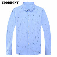 COODRONY Casual Shirts Mens Long Sleeve Pure Cotton Shirt Men Brand Clothing 2018 Spring Summer New
