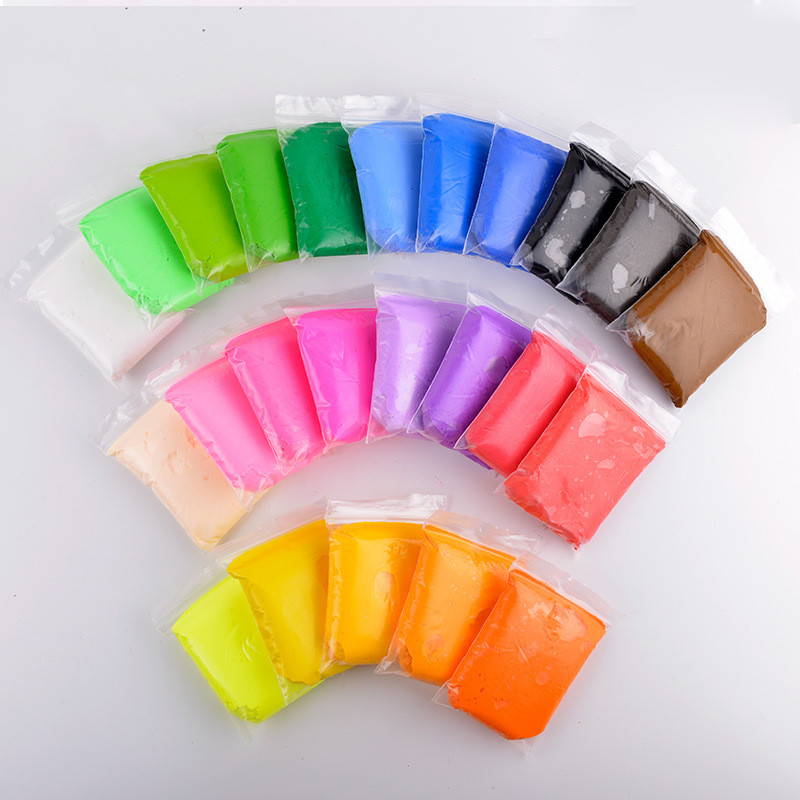 20g/bag Air Dry Soft Clay Kids Plasticine 12 Colors Creative DIY Colored Clay Children Early Education Hand Modeling Toys