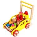 GOODCOW Multifunción wodden bloques carro y carro de juguete andador