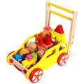 GOODCOW Multifunction wodden blocks cart and baby walker toy