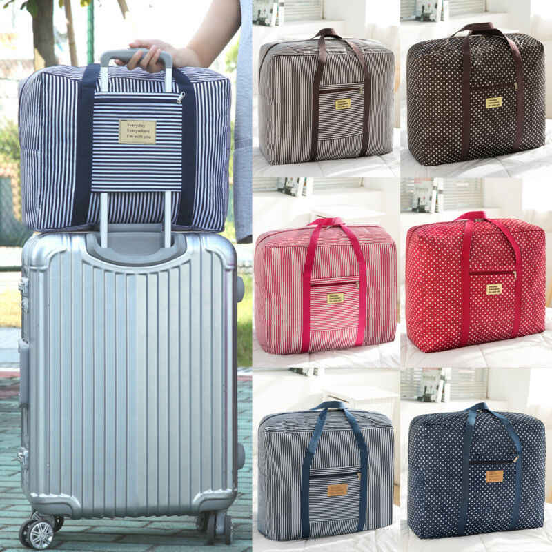 Large Capacity Travel Waterproof Folding Storage Bag Luggage Suitcase Pouch UK