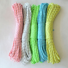 Outdoor 3.0M/6M Multifuncational Camping Umbrella Rope Paracord Luminous Equipment Survival Tool