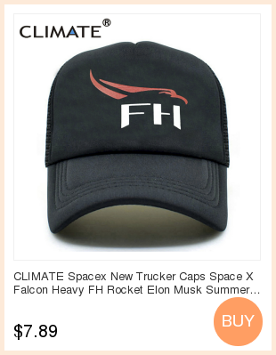 f1543424aaa CLIMATE Spacex Dad Caps Men Women Cool Black UFO Baseball Cap Cotton ...