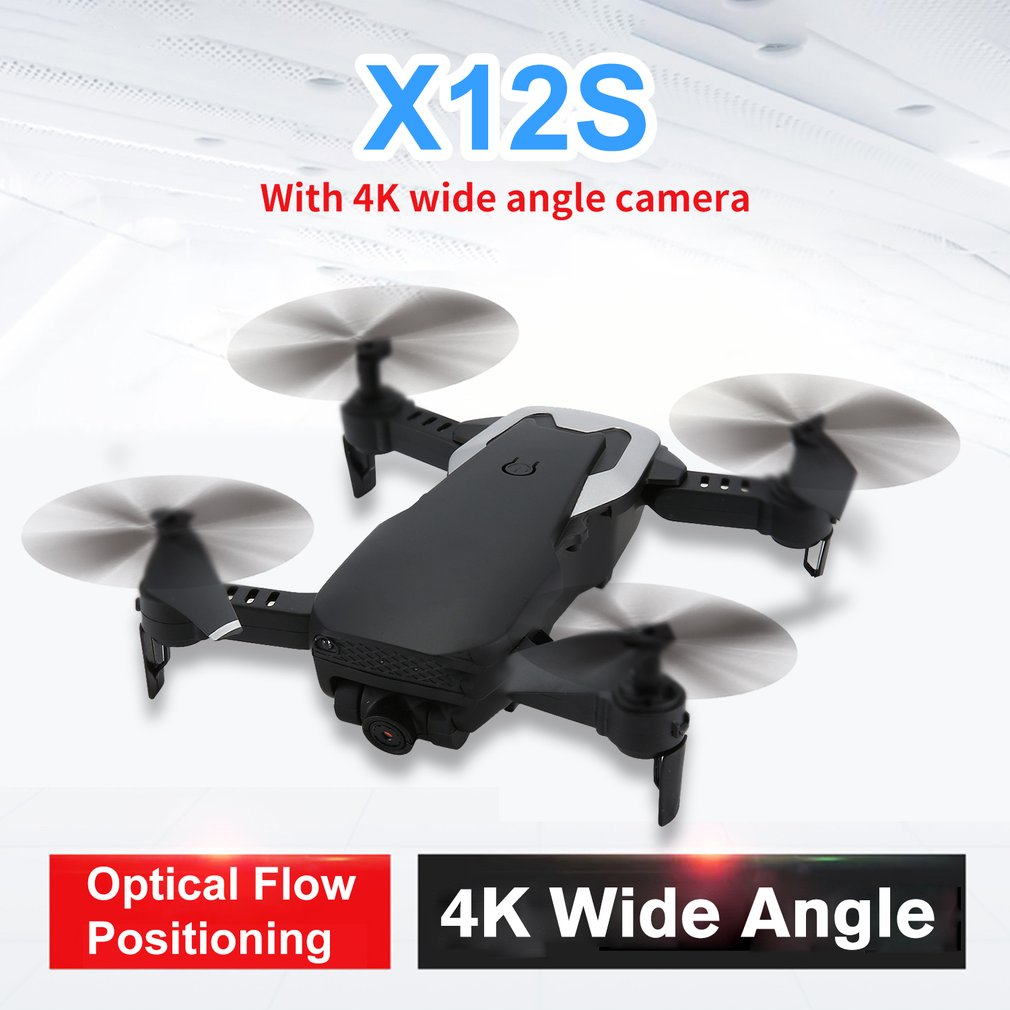 X12S RC Drone 4K WiFi FPV With Camera HD RC Quadcopter Wide Angle optical flow Mini Foldable drone Altitude Hold RC Helicopter