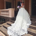 Ball Gowns Wedding Dress 2017 Handmade Butterfly Sweetheart Cathedral Train Dainty Bridal Wedding Gowns Dresses vestido de noiva
