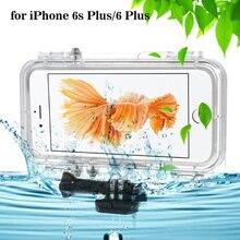 Водонепроницаемый чехол для iPhone 6 s 6 iPhone6s (4.7 дюймов) с широкоугольным объективом экстремального спорта на открытом воздухе мобильный телефон полный защитную крышку
