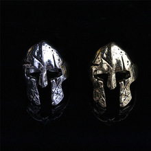 2017 Fashion Jewelry Viking Vintage Adjustable Spartan Mask Helmet Rin