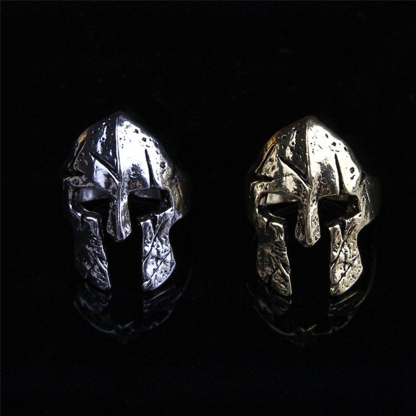 2017 Fashion Jewelry Viking Vintage Adjustable Spartan Mask Helmet Rin
