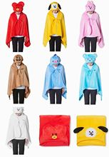 BTS BT21 Hooded Blankets (7 Models)
