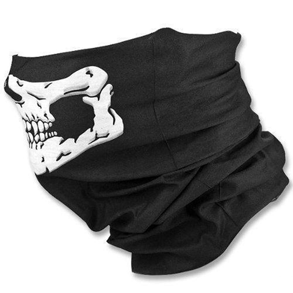 Evomosa Motorcycle Mask Skull Ghost Mask Biker Face Shield Face Masks Neck Scarf Balaclava Halloween Masquerade Mask Unisex
