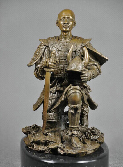 xd 003430 art deco sculpture japanese samurai bronze statue in