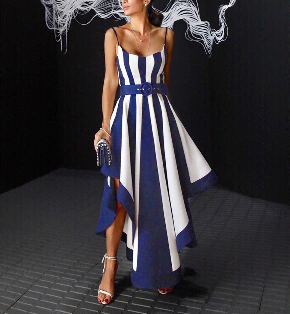 Új divat Stílusos formális nyári ruha Elegáns aszimmetrikus Maxi - Női ruházat