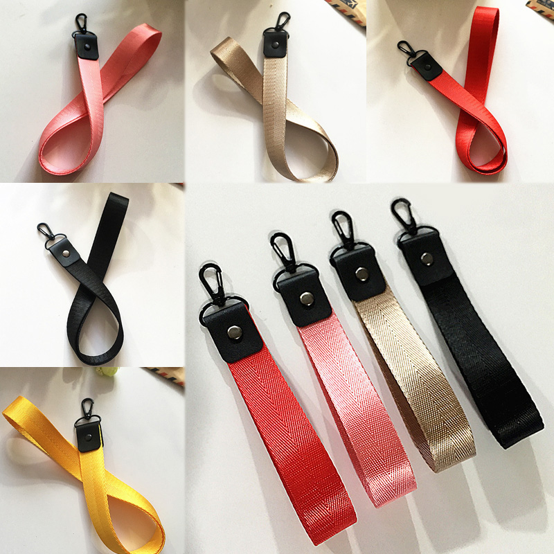 Sale Handmade Short And Long Ribbon Keychain For Women Men Wrist Strap Key Ring Wallet Key Chain Pendant Fashion Jewelry