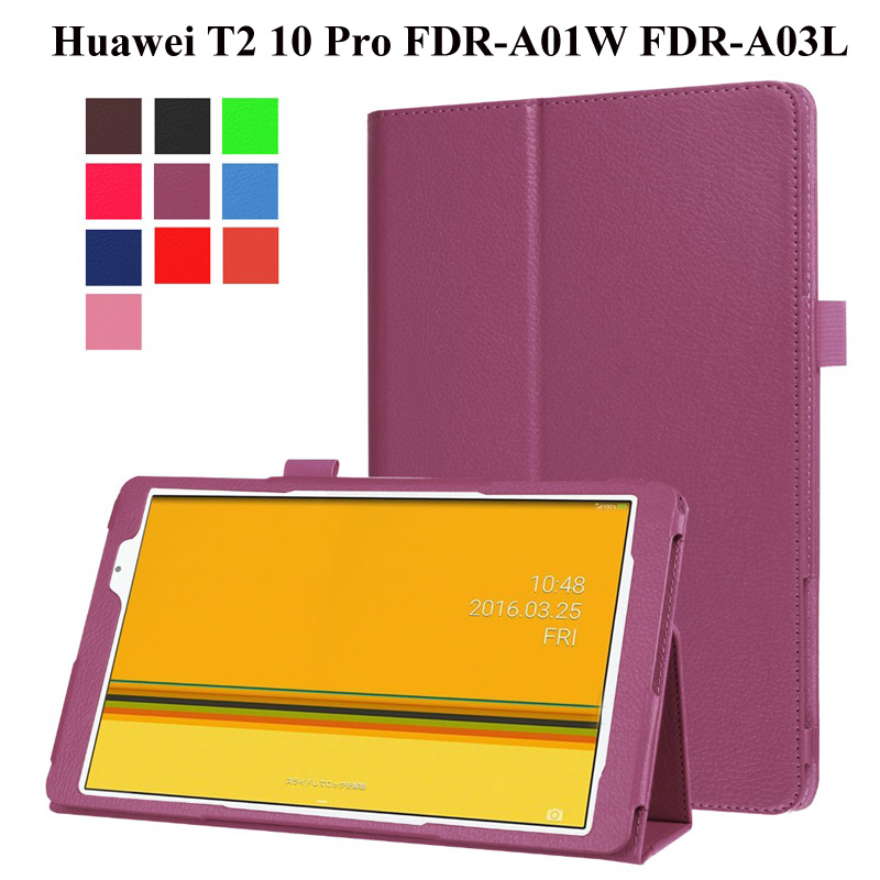 PU Leather Folding case For Huawei Mediapad T2 10.0 Pro Tablet Protective Cover for Huawei T2 FDR-A01W FDR-A03L 10.1 inch case image