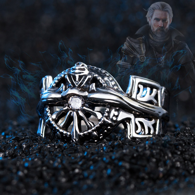 Final Fantasy Ring 925 Silver XV FF15 Noctis Lucis Caelum Light of Ring Costume Jewelry Props