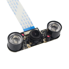 Discount! Raspberry Pi 3 Night Vision Camera +2pcs IR LED +15cm FPC Camera Module for 5MP OV5647 Raspberry Pi 2 Wide Angle Fish Eye Webcam